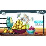 Rotulador Lyra hi quality art pen caja metálica 50 colores surtidos