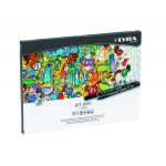 Rotulador Lyra hi-quality art pen de 20 colores caja metal