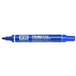 Rotulador Pentel permanente n50 color azul punta conica 4,3 mm