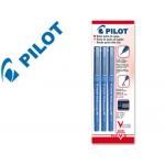 Rotulador Pilot punta aguja color azul 0.5 mm blister de 3 unidades-m