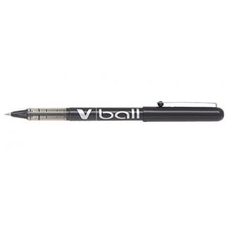 Pilot V-Ball 0.5 - Bolígrafo de tinta líquida, punta redonda de 0,5 mm, color negro