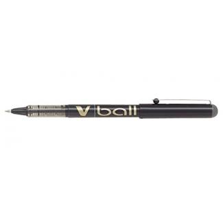 Pilot V-Ball 0.7 - Bolígrafo de tinta líquida, punta redonda de 0,7 mm, color negro