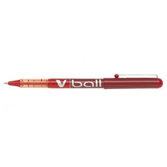 Pilot V-Ball 0.5 - Bolígrafo de tinta líquida, punta redonda de 0,5 mm, color rojo