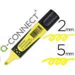 Rotulador Q-connect fluorescente color amarillo premium punta biselada con sujeción de caucho