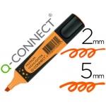 Q-Connect KF16039 - Rotulador fluorescente premium, punta biselada, sujección de caucho, color naranja