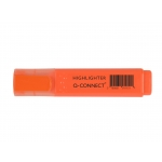 Rotulador Q-connect fluorescente color naranja punta biselada