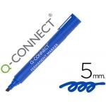 Rotulador Q-connect marcador permanente color azul punta biselada 5.0 mm