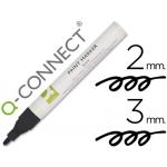 Rotulador Q-connect marcador permanente color negro punta redondA2-3 mm