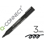Rotulador Q-connect marcador permanente color negro punta redonda 3.0 mm