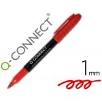 Rotulador Q-connect para cd/dvd punta fibra permanente color rojo punta redonda 1,0 mm