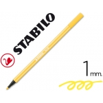 Rotulador Stabilo acuarelable pen 68 color amarillo 1 mm