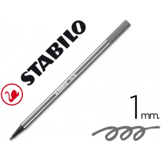Rotulador Stabilo acuarelable pen 68 color gris azulado medio 1 mm