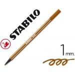Rotulador Stabilo acuarelable pen 68 color marron 1 mm