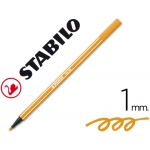 Stabilo Pen 68/54 - Rotulador acuarelable, punta redonda de 1 mm, color naranja