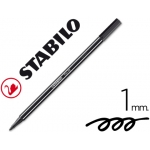 Rotulador Stabilo acuarelable pen 68 color negro 1 mm