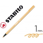 Rotulador Stabilo acuarelable pen 68 color ocre oscuro 1 mm