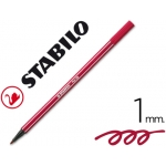 Rotulador Stabilo acuarelable pen 68 color rojo oscuro 1 mm