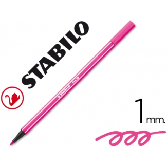 Stabilo Pen 68/56 - Rotulador acuarelable, punta redonda de 1 mm, color rosa