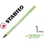 Rotulador Stabilo acuarelable pen 68 color verde hielo 1 mm
