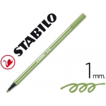 Rotulador Stabilo acuarelable pen 68 color verde hoja 1 mm