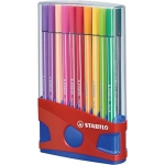 Rotulador Stabilo punta de fibra pen 68 color parade estuche de 20 rotuladores