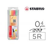 Rotulador Stabilo punta de fibra point 88 5 colores surtidos neon
