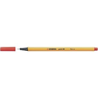 Stabilo Point 88/40 - Rotulador punta de fibra, punta redonda de 0,4 mm, color rojo