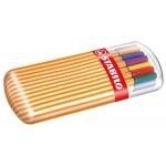 Rotulador Stabilo punta de fibra point 88 zebrui estuche de 20 rotuladores color surtidos