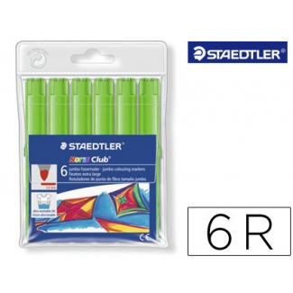 Rotulador Staedtler color jumbo trazo 3 mm cajas unicolor verde oliva