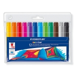Rotulador Staedtler color jumbo trazo 3 mm estuche de 12 colores surtidos