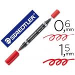 Rotulador Staedtler lumocolor permanente duo 348 color rojo punta F 0,6 mm punta m 1,5 mm