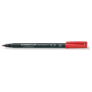 Staedtler lumocolor 317-2 - Rotulador permanente, punta redonda de 0,8 mm, color rojo