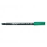 Rotulador Staedtler lumocolor permanente 317-5 color verde punta media redonda 0.8-1 mm