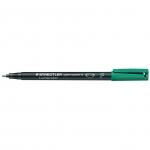 Rotulador Staedtler lumocolor permanente 318-5 color verde punta fina redonda 0.6 mm