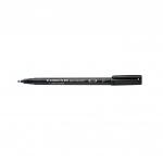 Rotulador Staedtler lumocolor permanente 318-9 color negro punta fina redonda 0.6 mm