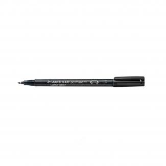 Staedtler Lumocolor 318-9 - Rotulador permanente, punta redonda de 0,6 mm, color negro