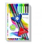 Rotulador Staedtler triplus fineliner estuche de 10 +3 colores surtidos