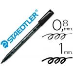 Rotulador lumocolor retroproyeccion punta de fibra permanente 317-9 color negro punta media redonda 0.8-1 mm
