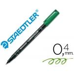 Rotulador lumocolor retroproyeccion punta de fibrapermanente 313-5 color verde punta super fina redonda 0.4 mm