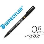 Rotulador lumocolor retroproyeccion punta de fibrapermanente 318-9 color negro punta fina redonda 0.6 mm