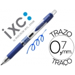 Rotulador roller Inoxcrom gel rectractil campus color azul 0,7 mm