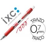 Rotulador roller Inoxcrom gel rectractil campus color rojo 0,7 mm