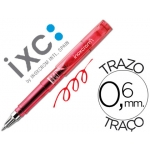 Rotulador roller Inoxcrom short gel office campus color rojo 0,6 mm