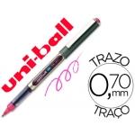 Rotulador uni-ball roller color rosa 0,7 mm