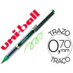 Rotulador uni-ball roller color verde claro 0,7 mm