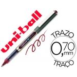 Rotulador uni-ball roller color vino 0,7 mm