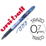 Rotulador uni-ball roller magik girl borrable 0,7 mm color azul