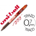 Rotulador uni-ball roller magik girl borrable 0,7 mm color rojo
