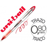 Rotulador uni-ball roller vision color rojo 0,8 mm