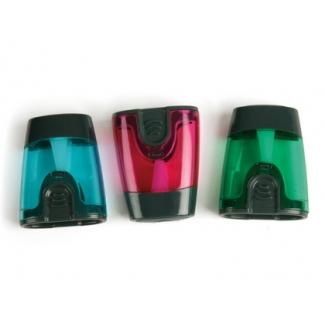 Liderpapel SA12 - Sacapuntas metálico, con depósito, colores surtidos